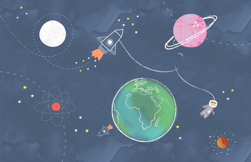 space-scene-nursery-plain-wall-mural