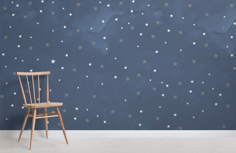 starry-night-nursery-room-wall-mural