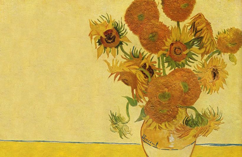 sunflowers-van-gogh-art-plain-wall-murals