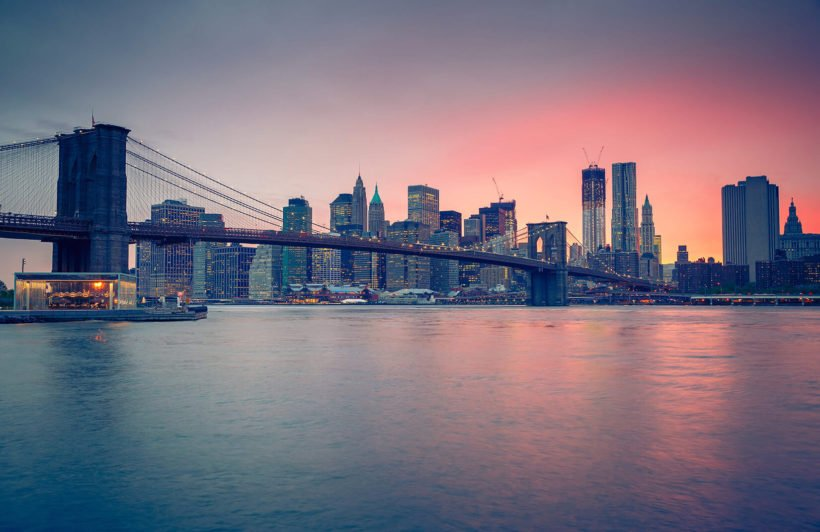 sunset-over-nyc-city-plain-wall-murals