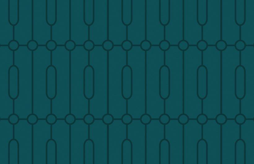 teal geometric art deco print wallpaper mural