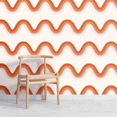 terracotta-orange-70s-retro-waves-repeat-pattern-wallpaper-Square