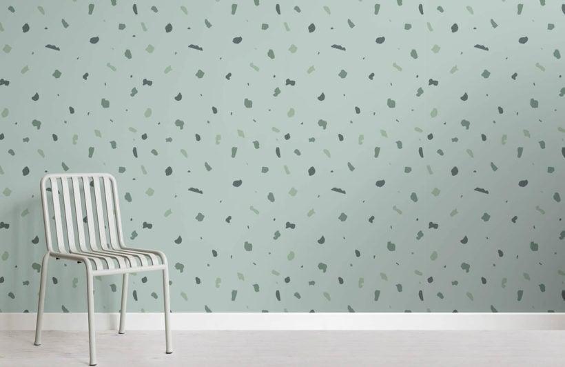 terrazzo-green-small-room-wall-mural