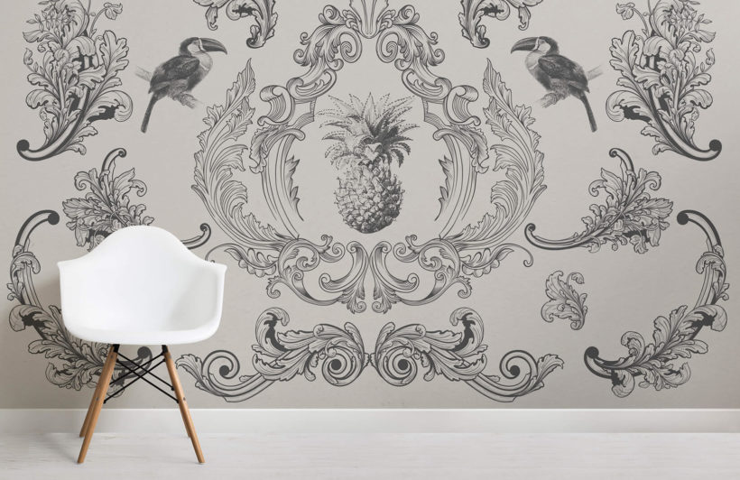 toco black-vintage explorer-room-wall mural-kj