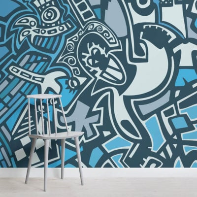 tribal-graffiti-square-wall-murals