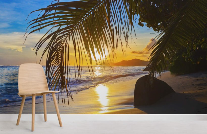 tropical-sunset-room-wall-murals