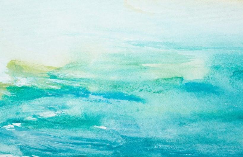 turquoise-watercolour-plain-wall-murals