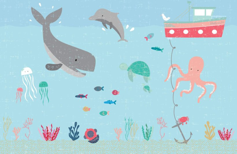 under-the-sea-nursery-plain-wall-mural