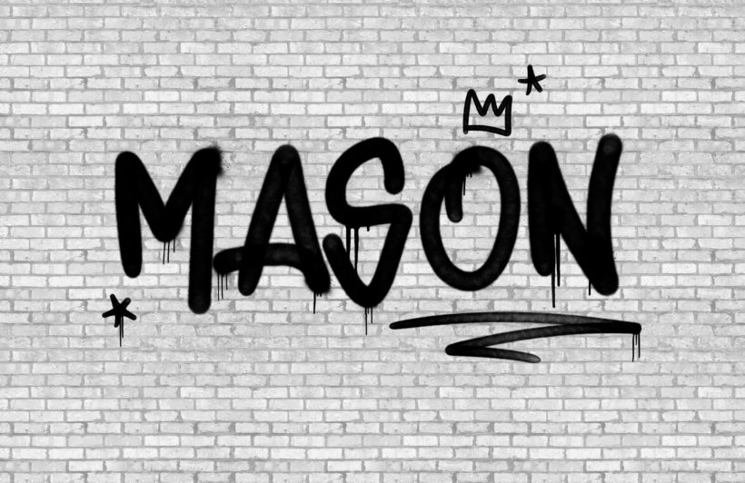 urban brick custom name graffiti wallpaper mural