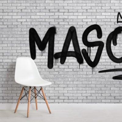 urban brick custom name graffiti wallpaper mural
