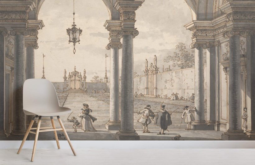 view-through-baroque-colonnade-canaletto-art-room-wall-murals