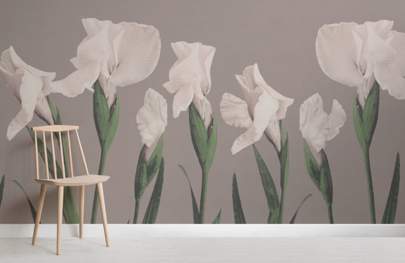 vintage japanese large flower wallpaper mural