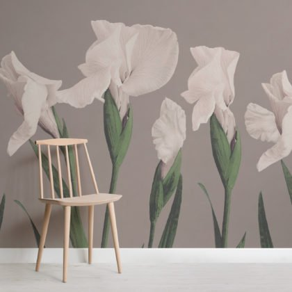 Vintage Japanese Large Flower Wallpaper Mural Image