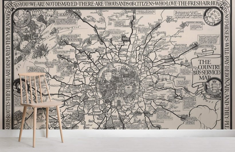vintage-london-buses-map-room-wall-murals