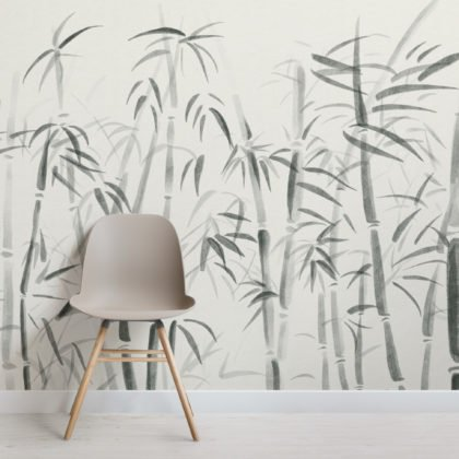 Watercolour Traditional Chinese Bamboo Wallpaper Mural Image