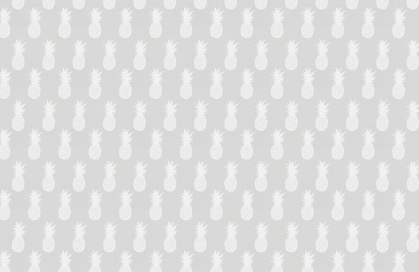 white and grey pineapple pattern wallpaper mural