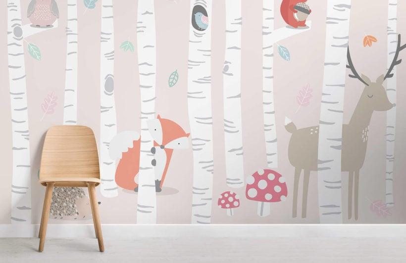 kids-woodland-scene-room-wall-mural