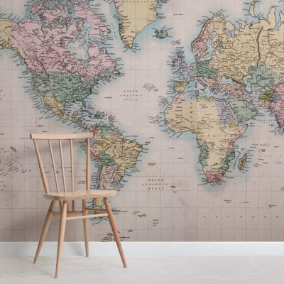 world-of-mercators-projection-maps-square-wall-murals