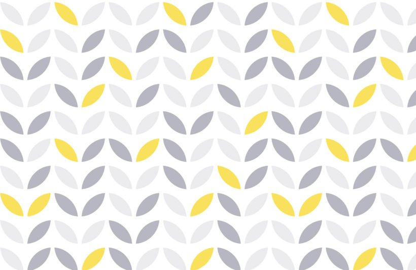 yellow-and-grey-abstract-flower-pattern-design-plain-wall-murals