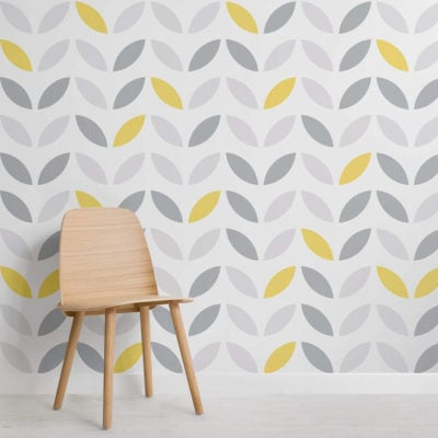 yellow-and-grey-abstract-flower-pattern-design-square-wall-murals