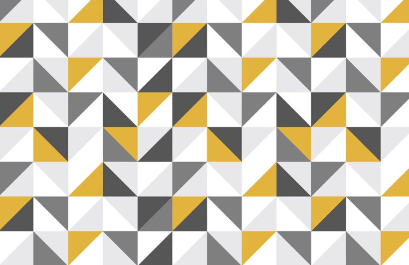 yellow-and-grey-abstract-geometric-design-plain-wall-murals