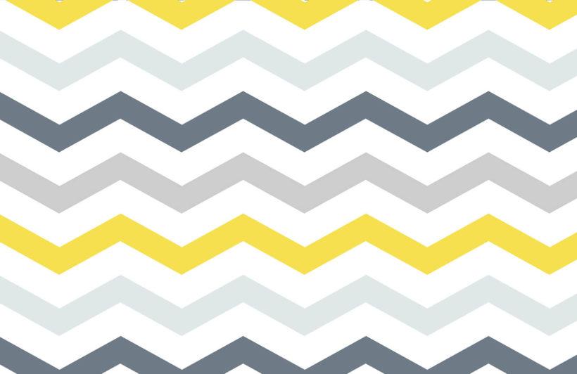yellow-and-grey-chevron-design-plain-wall-murals