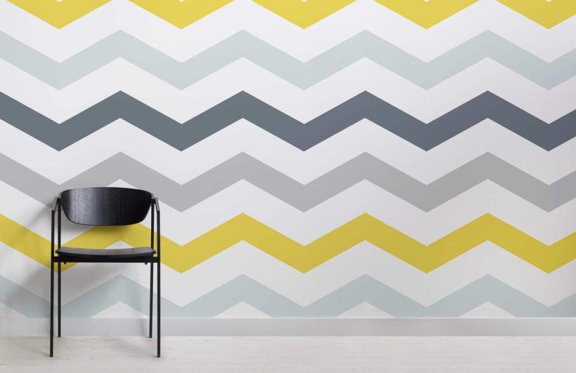 yellow-and-grey-chevron-design-room-wall-murals
