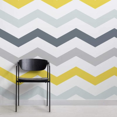 yellow-and-grey-chevron-design-square-wall-murals
