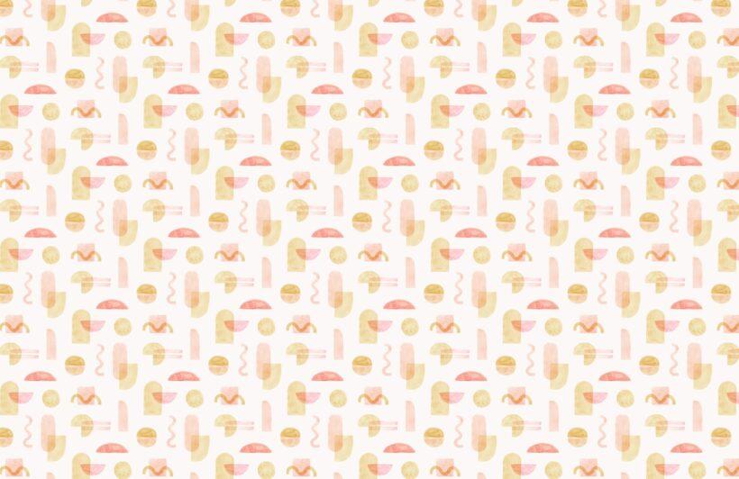 yellow-and-orange-watercolour-geometric-repeat-pattern-wallpaper