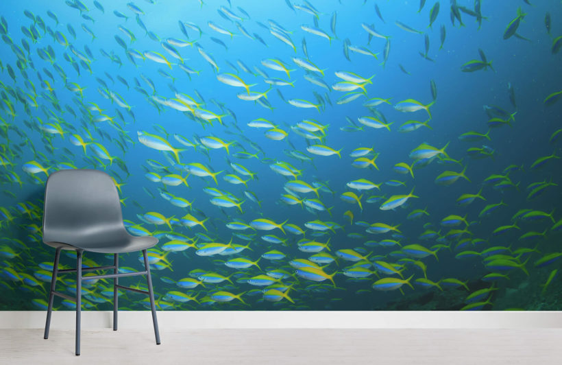 yellow-fish-school-underwater-room-wall-murals
