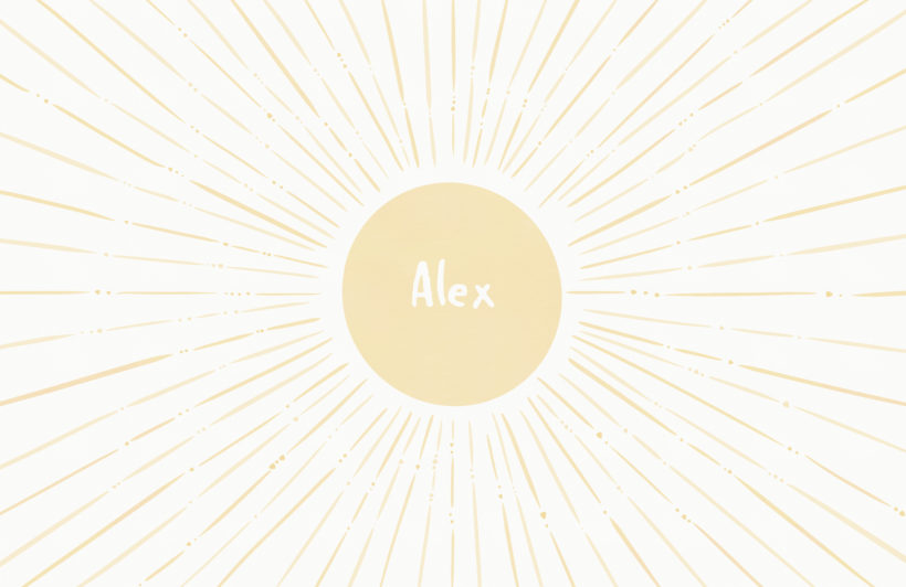 yellow sun personalised name kids wallpaper mural